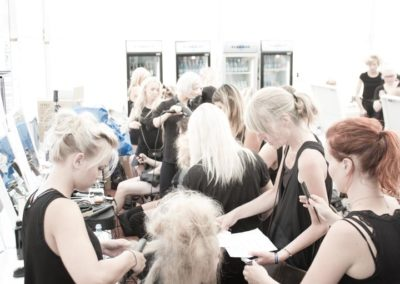 Nicci Welsh Team working at fashion show