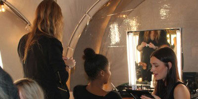 Backstage at the Danish Music Awards with United Makeup Academy.